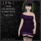 [D'Arc] One Shoulder Slouch Dress - Purple Stripe