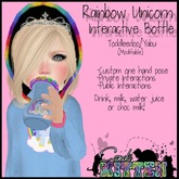 {C*K} Rainbow Unicorn Custom Hold Interactive Bottle