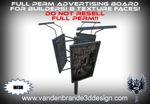 ~Full perm Advertising board 100% mesh! 8 texture faces