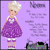 {C*K} Noemi in PURPLE For Toddleedoo, Kids and Yabu Babies! PROMO PRICE