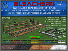 Riders Bleachers (Level 1) with Seat Selection & Auto Rezzing & Self Deleting Bleacher Chairs