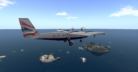 Second Life Marketplace Ava Dhc 6 Twin Otter British Airways Livery