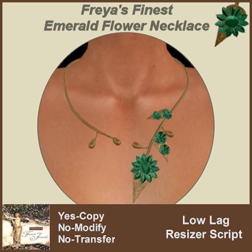 Freya's Finest Emerald Daisy Choker