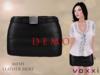 .::voxxi::. DEMO OLYA - Mesh Leather Skirt [Black]
