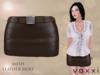 .::voxxi::. OLYA - Mesh Leather Skirt [Brown]