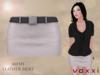 .::voxxi::. OLYA - Mesh Leather Skirt [White]