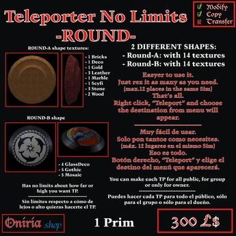 TELEPORT NO LIMITS-ROUND