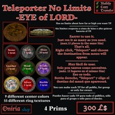 TELEPORT NO LIMITS-EYEofLORD