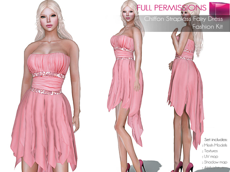CLASSIC RIGGED MESH Women's Strapless Asymmetrical Hanky Skirt Chiffon Cocktail Dress - 4 TEXTURES