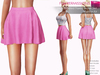 FULL PERM CLASSIC RIGGED MESH Women's Female Ladies Summer High Waist Ruffled Skater Skirt - 3 TEXTURES