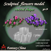 sculpted Twisted sculpted flowers  1 prim full perm