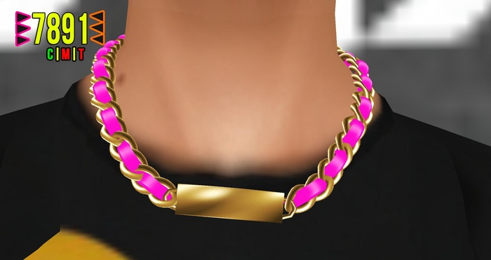 [7891.]- Latour Necklace - Gold&Pink (W\Resize)