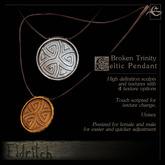 .Eldritch. Broken Trinity Celtic Pendant