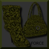 *Elsewhere* ~ FORCE ~ Slouch Boots & Purse