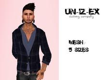 mesh mens jacket woollen check green