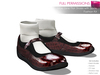 Full Perm Mesh Mary Jane Flat Shoes With Socks