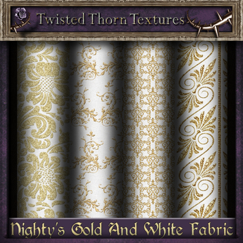 ~TTT~ Nighty's Gold & White Fabric Textures