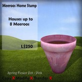 Meeroos Home Flower Pot Pink v.30 BOXED