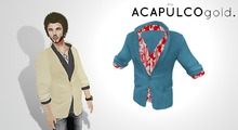 ::theACAPULCOgold.::_Escobar_Jacket&Shirt AZURE/HAWAII
