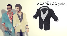 ::theACAPULCOgold.::_Escobar_Jacket&Shirt BLACK/WHITE