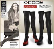 K-CODE JULIETTE7 Rigged Mesh Boots