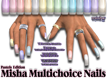 **1/2 OFF SALE!** Multichoice Pastel Nails - by Misha Fine Jewelry (Jewellery)