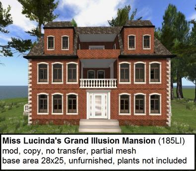 Miss Lucinda's Grand Illusion Mansion(185LI, 28x25)
