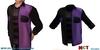 Mens mesh pop purple