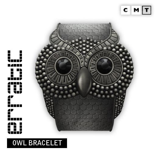 erratic / owl bracelet / gunmetal