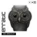 Owl bracelet black