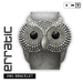 erratic / owl bracelet / silver