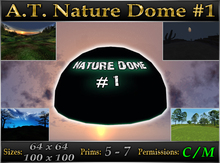 A.T. Nature Sky Dome - 2 Sizes: 64x64 + 100x100 meters - Panorama SkyGlobe