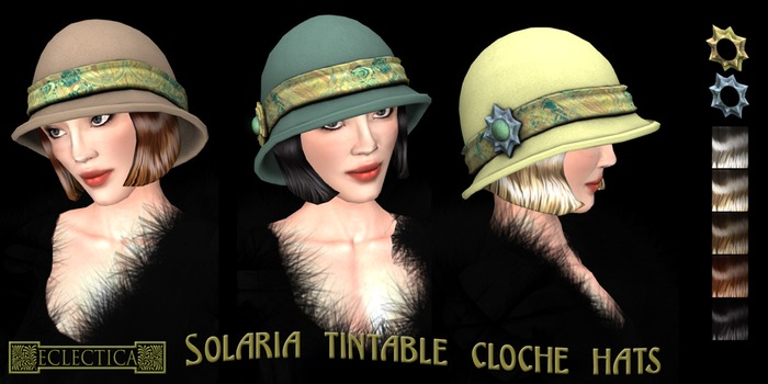 Eclectica 'Solaria' Cloche Hat- Cyan