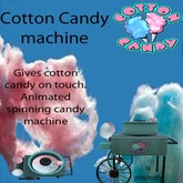 cotton candy  machine multi colord )