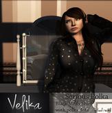 Serious Polka - Black Mesh shirt [System basic sizing]
