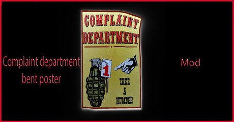 complaint department bent poster