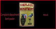 complaint department bent poster