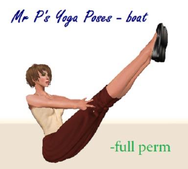Second Life Marketplace Yoga Pose Boat