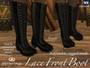 Lace Front Mesh Boots - Brown [Fitted Mesh]