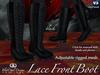 Lace Front Mesh Boots - Black