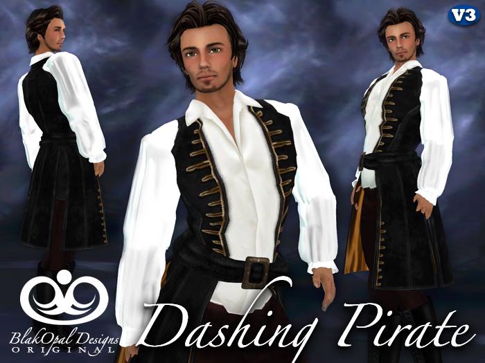 Dashing Pirate Outfit - Black