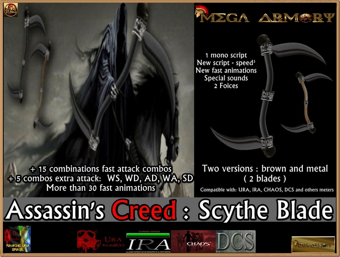 Second Life Marketplace Assassin S Creed Scythe Blade 3 8