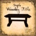 [DDD] Simple Wooden Table  - 100% Mesh, 1 Prim