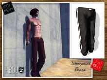 *Hibou* MESH Sweatpants Male Black