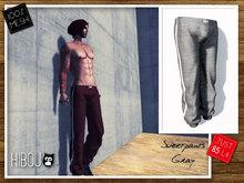 *Hibou* MESH Sweatpants Male Gray