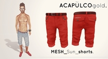 ..theACAPULCOgold.::_Mesh_Sun_shorts_Red