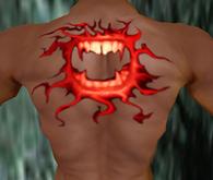Tatuagem - sorriso de vampiro