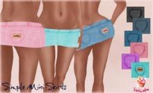 -TartCake- Simple Mini Skirt Purple