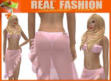 """""""REAL FASHION"""" Hoop bikini and sarong set - Mesh"""