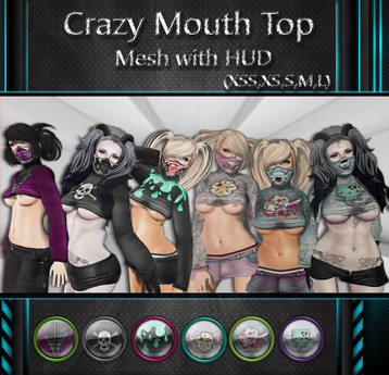 NS:: Crazy Mouth Top Mesh with HUD